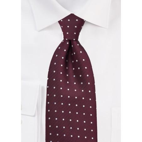 Polka Dot Tie in Burgundy
