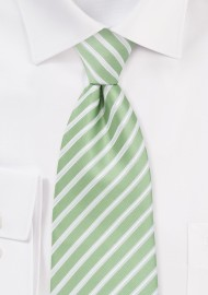 Seafoam Green Striped Tie