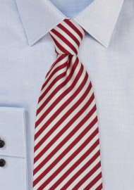 Red and White Extra Long Ties - Candy Cane Striped Tie in XL