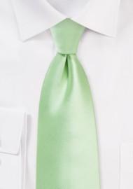 Light Mint Tie in Kids Length