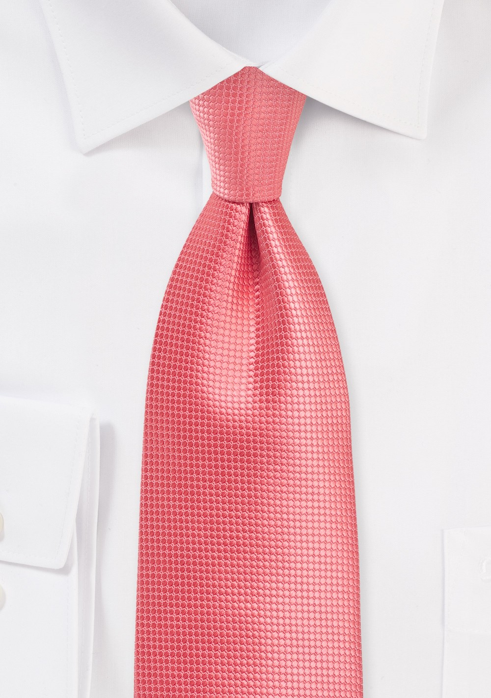 Textured Tie in Georgia Peach