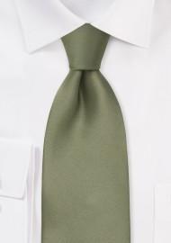 Dark Sage Green Silk Necktie