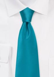Solid Adriatic Blue Necktie