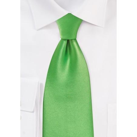 Bright Kelly Green Necktie