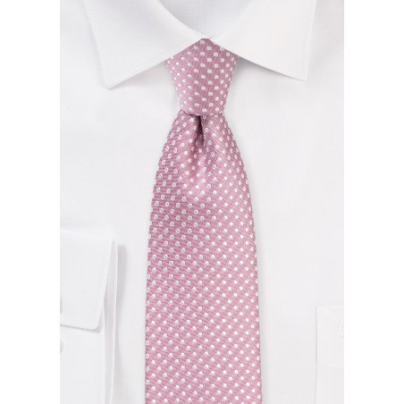 Pin Dot Tie in Dusty Rose