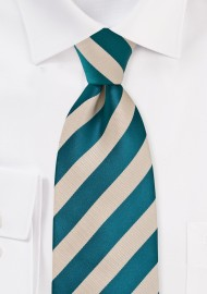 Riviera Blue and Champagne Tie for Kids