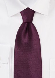 Solid Burgundy Silk Tie in XL