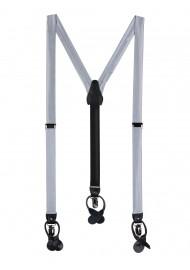 Formal Silver Mens Suspenders