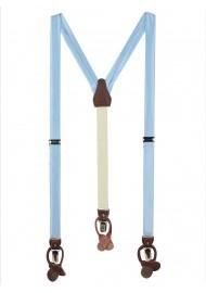 Light Blue Mens Fabric Suspenders