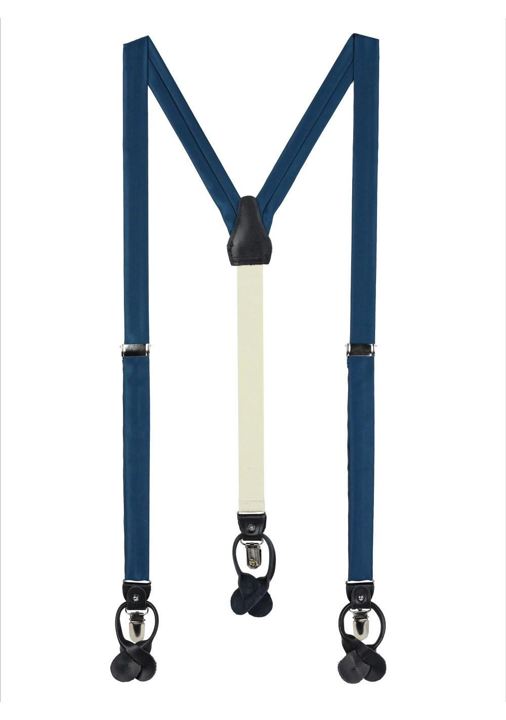 Dark Teal Blue Dress Suspenders
