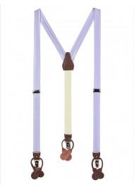 Elegant Summer Suspenders in Lavender