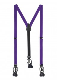Royal Purple Mens Fabric Suspenders