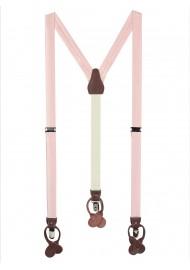 Suspenders in Peach Blush Pink