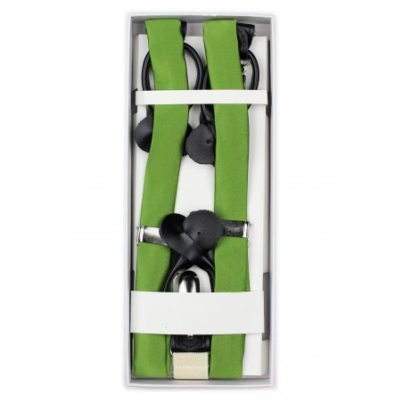 Fern Green Mens Suspenders in Box