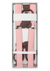 Candy Pink Dress Suspenders in Box