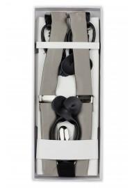 Mercury Silver Dress Suspenders in Box