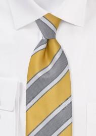 Graphic Striped Tie in Lemon