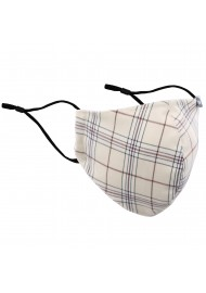 Linen and Brown Plaid Mask