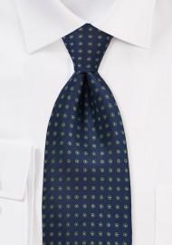 Navy & Green Polka Dot Tie