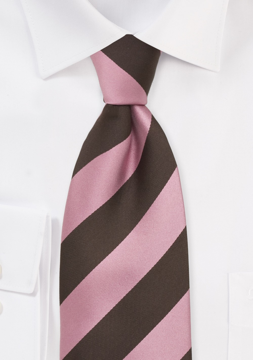 100/% Cotton Necktie Pink Necktie 2.5 Inches Wide