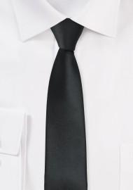 Solid Black Skinny Tie