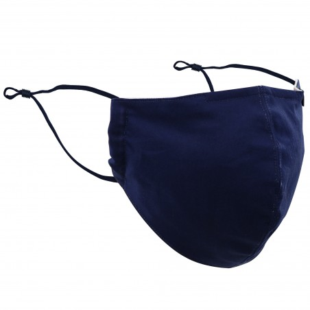 Solid Navy Filter Mask in Cotton