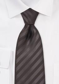 Striped Tie in Espresso