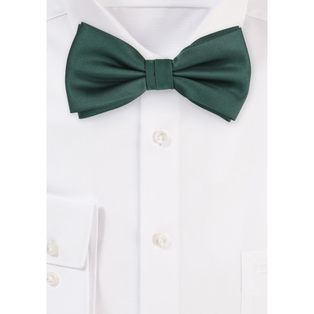 Dark Green Bow Tie in Pre-Tied Style
