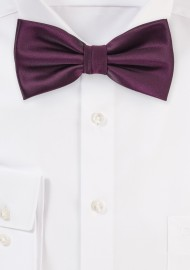 Plum Color Bow Tie