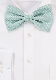 Men's Bow Tie in Mint Green