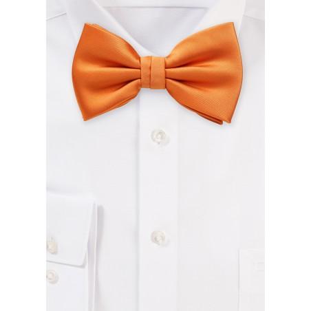 Solid Bow Tie in Orange