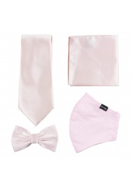 Blush Pink Mask and Tie Set
