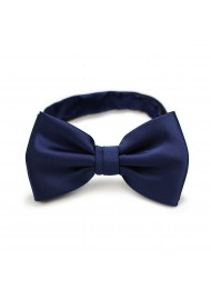 Solid Navy Bow Tie