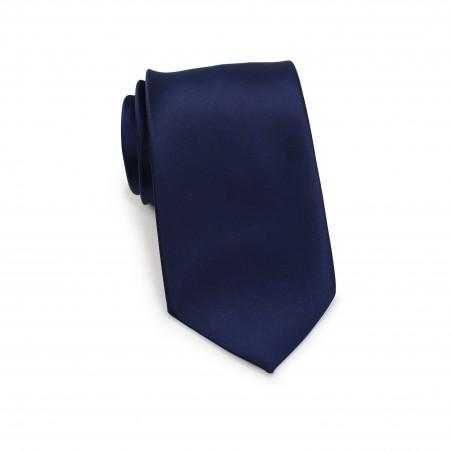 Solid Navy Necktie