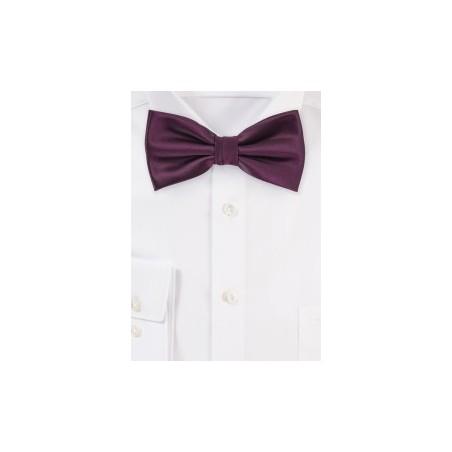 Plum Purple Bow Tie