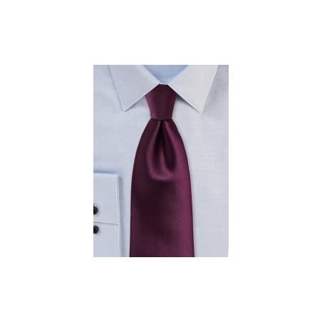 Plum Purple Necktie