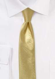 Vegas Gold Skinny Tie in Metallic Finnish