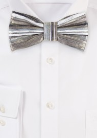 Rose Gold and Platinum Metallic Bow Tie