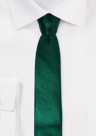 Metallic Green Skinny Tie