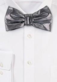Silver Sparkle Bow TIe