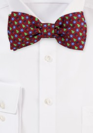 Holiday Design Print Bow Tie