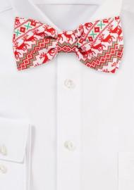 Nordic Christmas Bow Tie
