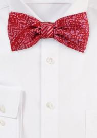 Scandinavian Christmas Print Bow Tie