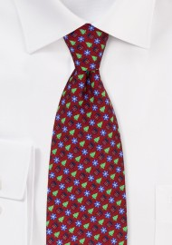 Holiday Designer Necktie in Crimson