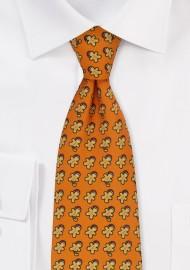 Orange Tie with Gingerbread Men