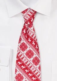 Swedish Christmas Print Necktie
