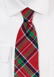 Christmas Plaid Necktie in Cotton