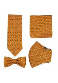 Burnt Orange Mask Set with...