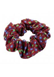 Scrunchie in Christmas Wrap Design