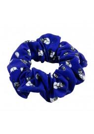 Blue Scrunchie with Snowmen